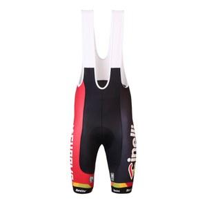Santini Cinelli Chrome Cool Max 2 Pad Bib Shorts - White Mesh Braces - Black