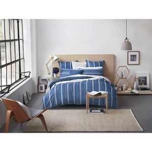 Sheridan Bramwell Cotton Duvet Cover - Blue