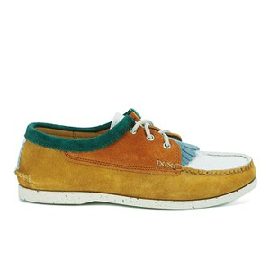 Yuketen Men's Blucher Tassle Suede Boat Shoes - Multi