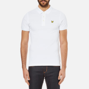 Lyle & Scott Men's Short Sleeve Plain Pique Polo Shirt - White
