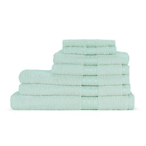 Restmor 100% Egyptian Cotton 7 Piece Supreme Towel Bale Set (500gsm) - Seafoam