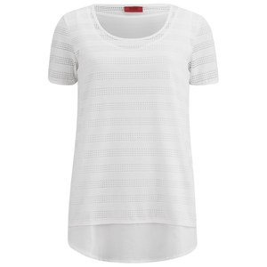 HUGO Women's Demya Short Sleeved T-Shirt - White