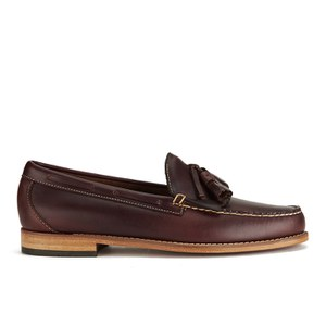 Bass Weejuns Men's Larkin Leather Tassle Loafers - Dark Brown