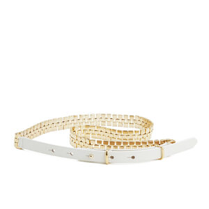 French Connection Women's Naimh Belt - Summer White