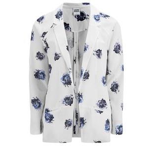 Vero Moda Women's Yin Floral Blazer - Snow White
