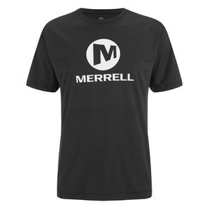 Merrell Men's Stacked Logo Trail Tech T-Shirt - Black/White