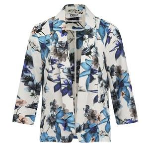ONLY Women's Lara Floral Jacket - Cloud Dancer