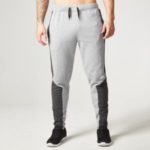 Myprotein Men's Panelled Slimfit Sweatpants with Zip - Grey Marl