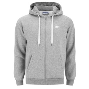 Myprotein Men's Zip Up Hoodie – Grey Marl