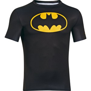 Under Armour Men's Batman Compression Short Sleeved T-Shirt - Black/Yellow