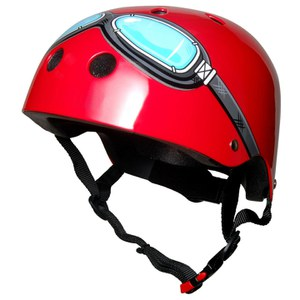 Kiddimoto Goggle Helmet - Red