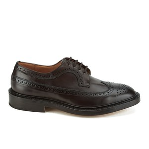 Knutsford by Tricker's Men's Richard Leather Brogue Shoes - Dark Brown