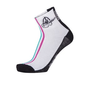 Santini Anna Meares TDU Cotton Summer Socks - Standard Profile - White/Black