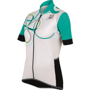 Santini Anna Women's Short Sleeve Print Jersey - White/Green