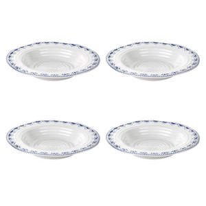 Sophie Conran for Portmeirion Rimmed Soup Plate - Maud - White (Set of 4)