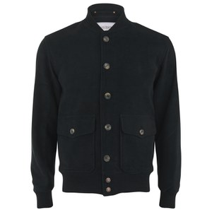 Private White VC Men's Moleskin Bomber Jacket - Black
