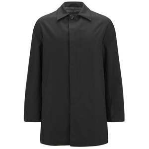 Knutsford Men's 'Made in England' Single-Breasted Raincoat - Black