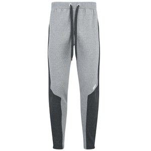 Myprotein Men's Panelled Slimfit Sweatpants with Zip - Grey Marl