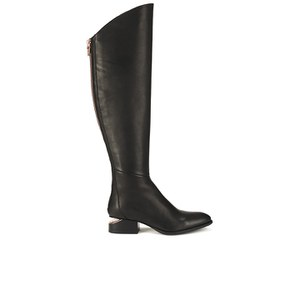 Alexander Wang Women's Sigrid Leather Knee High Boots - Black