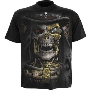 Spiral Men's STEAM PUNK REAPER T-Shirt - Black