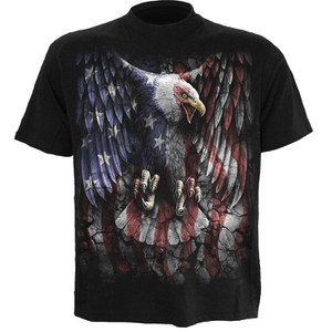 Spiral Men's LIBERTY USA T-Shirt - Black
