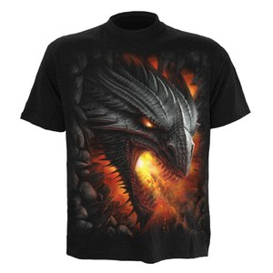 Spiral Men's ROCK GUARDIAN T-Shirt - Black