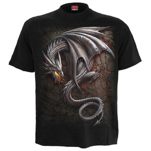 Spiral Men's OBSIDIAN T-Shirt - Black