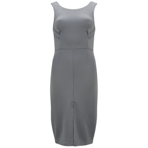 Lavish Alice Women's Strap Detail Bodycon Midi Dress - Dove Grey