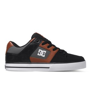 DC Shoes Men's Pure Mid Top Trainers - Black/Red