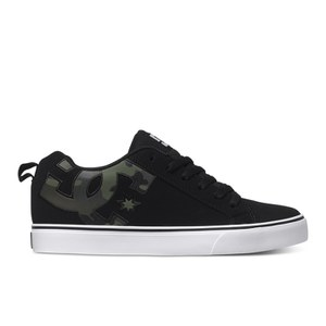 DC Shoes Men's Court Vulc SE Trainers - Black/Camo