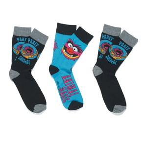 Muppets Men's 3 Pack Socks - Black/Blue