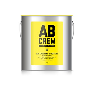 AB CREW Men's AB Carving Protein Artisanal Dietary Supplement - Pineapple Vanilla (1kg)