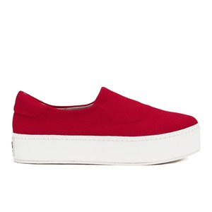Opening Ceremony Women's Slip On Platform Sneakers - Red