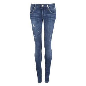 ONLY Women's Mercury Low Rise Skinny Jeans - Medium Blue Denim