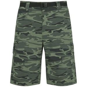 Columbia Men's Silver Ridge 10 Inch Cargo Shorts - Gravel Camo Print