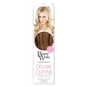 Beauty Works Deluxe Clip-In Hair Extensions 18 Inch - Blondette 4/27