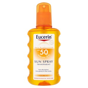 Eucerin® Sun Protection Transparentes Sonnenspray 50 Hoch (200ml)