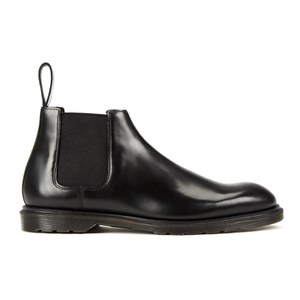 Dr. Martens Men's Henley Wilde Polished Smooth Leather Low Chelsea Boots - Black
