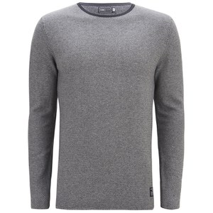 Jack & Jones Men's Core Bobby Crew Neck Knitted Jumper - Light Grey Melange