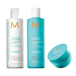 Moroccanoil Smoothing Shampoo, Conditioner and Mask Trio (3x250ml)
