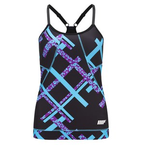 Myprotein FT Graffiti Dámsky Tank Top – Black Square