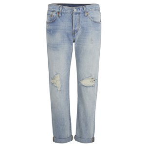 Levi's Women's 501 Mid Waist Ripped Jeans - Old Favorite
