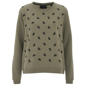 Maison Scotch Women's Embellished Sweatshirt - Beige Melange