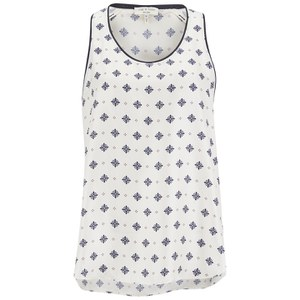 rag & bone Women's Teddy Tank Top - White Cap Diamond