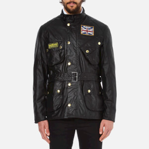 Barbour International Men's Union Jack International Coat - Black