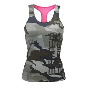 Better Bodies Women's T-Back Tank Top - Green Camoprint