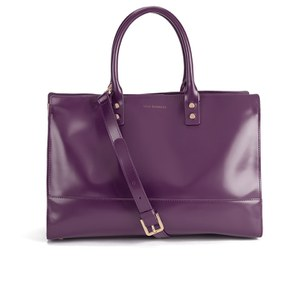 Lulu Guinness Women's Daphne Smooth Leather Medium Tote Bag - Damson