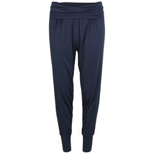 Derek Rose Women's Carla 1 Midnight Tapered Lounge Trousers - Navy