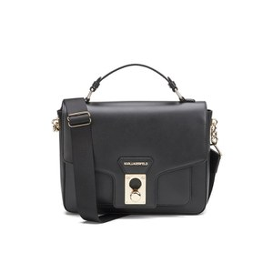 Karl Lagerfeld Women's K/Pin Closure Satchel - Black