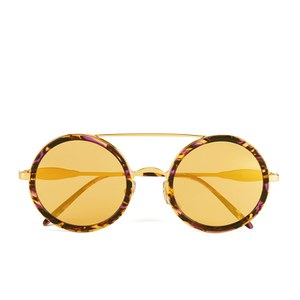 Wildfox Women's Winona Deluxe Sunglasses - Montage Hold/Yellow Gold Mirror